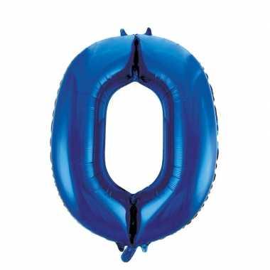 0 jaar versiering cijfer ballon 86 cm