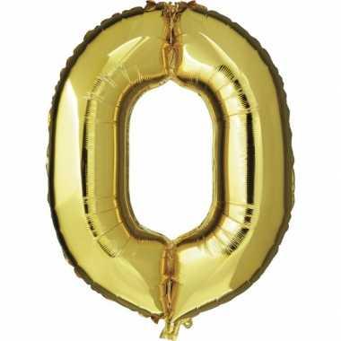 0 jaar versiering cijfer ballon