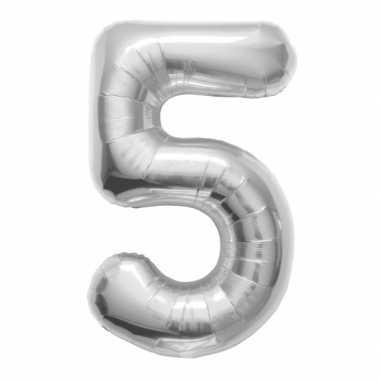 5 jaar helium ballon zilver