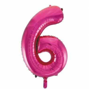 6 jaar versiering cijfer ballon 10108798