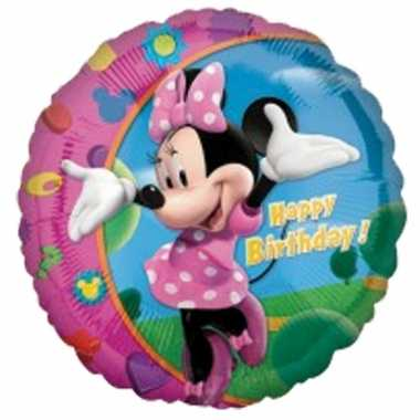 Ballon van gefeliciteerd Minnie Mouse Happy Birthday 45 cm