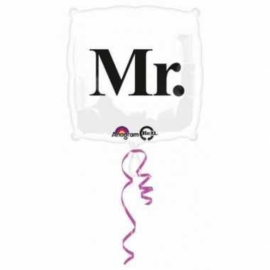 Bruiloft gefeliciteerd ballon Mr.