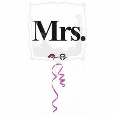 Bruiloft gefeliciteerd ballon Mrs.