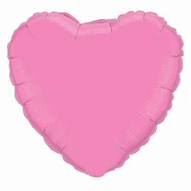 Bruiloft roze hartjes gefeliciteerd ballon 45 cm