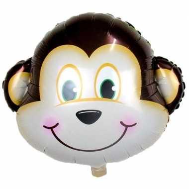 Dieren gefeliciteerdballon aap/apen 34 cm