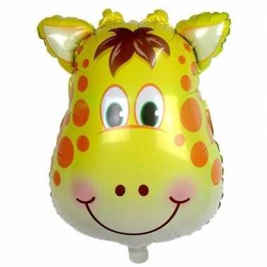 Dieren gefeliciteerdballon giraf/giraffen 42 cm