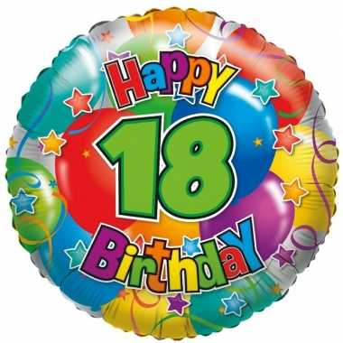 gefeliciteerd 18 Gefeliciteerd ballon 18 jaar 45 cm | Gefeliciteerd ballon.nl gefeliciteerd 18