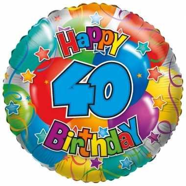 Gefeliciteerd ballon 40 jaar 35 cm
