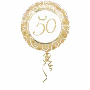 Gefeliciteerd ballon 50 goud 45 cm