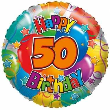 Gefeliciteerd ballon 50 jaar 45 cm
