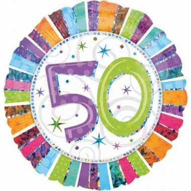 Gefeliciteerd ballon 50 jaar met helium