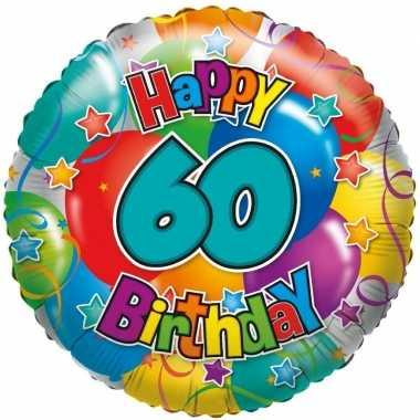 Gefeliciteerd ballon 60 jaar 45 cm