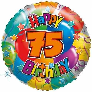 Gefeliciteerd ballon 75 jaar 45 cm