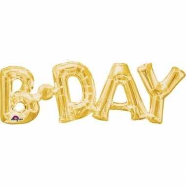 Gefeliciteerd ballon birthday goud 66 cm