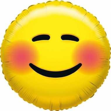 Gefeliciteerd ballon bloos smiley 45 cm