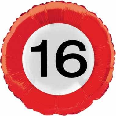 Gefeliciteerd ballon cijfer 16