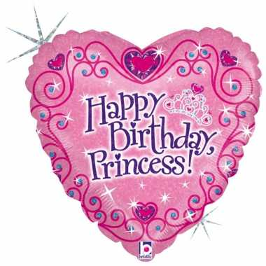 Gefeliciteerd ballon gefeliciteerd prinses/happy birthday princess 46