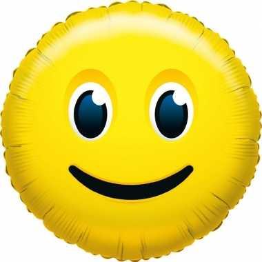 Gefeliciteerd ballon glimlach smiley 45 cm