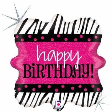 Gefeliciteerd ballon happy birthday verjaardag 46 cm met helium gevul