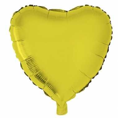 Gefeliciteerd ballon hart goud 52 cm