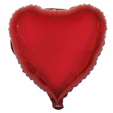 Gefeliciteerd ballon hart rood 52 cm