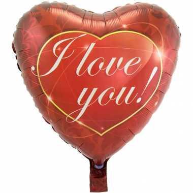 Gefeliciteerd ballon i love you hart 43 cm met helium gevuld