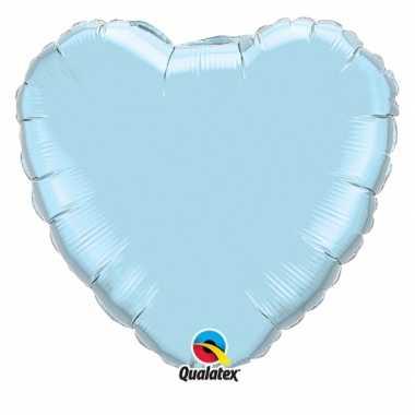 Gefeliciteerd ballon lichtblauw hart 45 cm