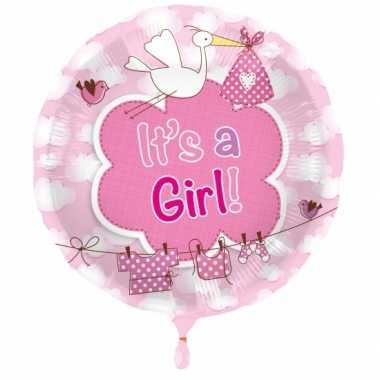 Gefeliciteerd ballon meisje geboren