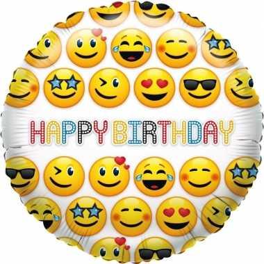 gefeliciteerd smiley Gefeliciteerd ballon smiley verjaardag 35 cm | Gefeliciteerd ballon.nl gefeliciteerd smiley