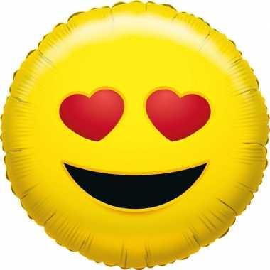 Gefeliciteerd ballon verliefde smiley 45 cm