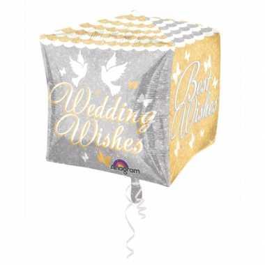 Gefeliciteerd ballon Wedding Wishes 38 cm