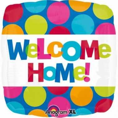 Gefeliciteerd ballon welkom thuis 43 cm