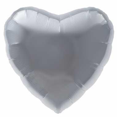 Gefeliciteerd ballon zilveren hart