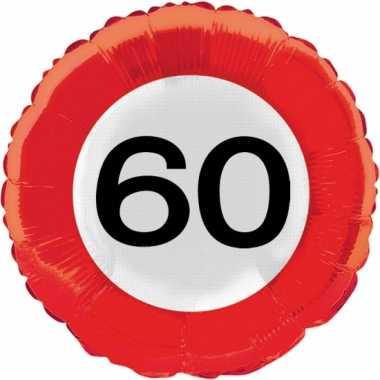 Gefeliciteerd ballonnen 60 jaar verkeersbord