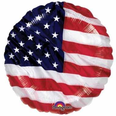 Gefeliciteerd ballonnen Amerika 45 cm
