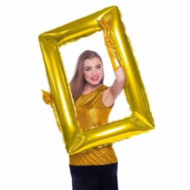 Gefeliciteerd foto frame rechthoek goud 85 x 60 cm