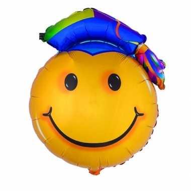 Gefeliciteerdballon geslaagd smiley 67 cm