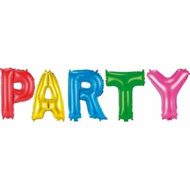 Gekleurde gefeliciteerd ballonnen party set