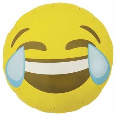 Gele emoticon gefeliciteerd ballon lol 46 cm