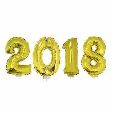 Gouden 2018 ballonnen voor oud en nieuw
