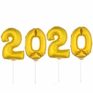 Gouden 2020 ballonnen voor oud en nieuw