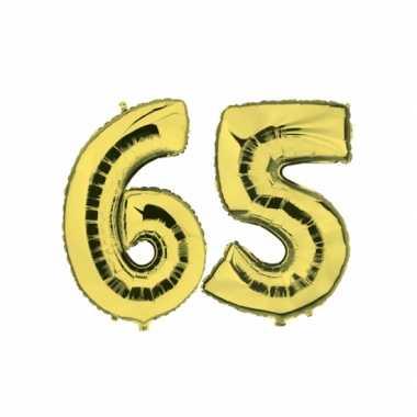 Gouden opblaasbare 65 gefeliciteerd ballonnen