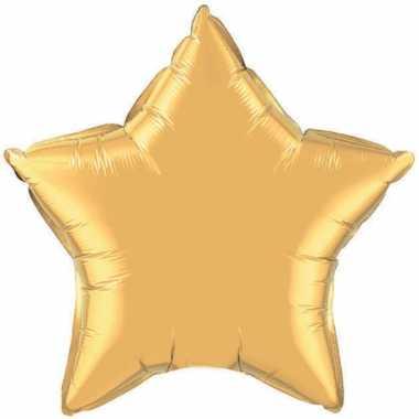 Gouden sterretjes gefeliciteerd ballon 50 cm