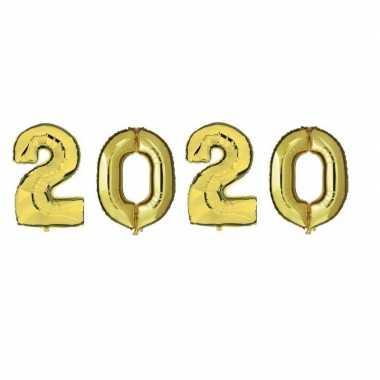 Grote gouden 2020 ballonnen voor oud en nieuw
