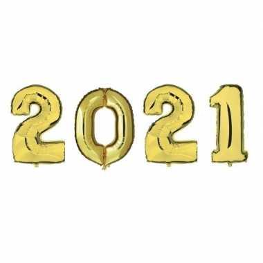 Grote gouden 2021 ballonnen voor oud en nieuw