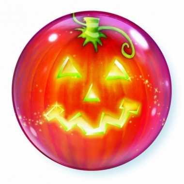 Halloween gefeliciteerd ballon pompoen 56 cm