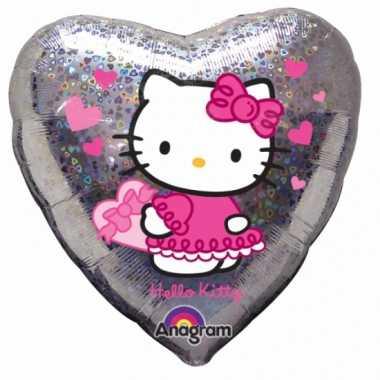 Hello Kitty feest gefeliciteerd ballon 45 cm