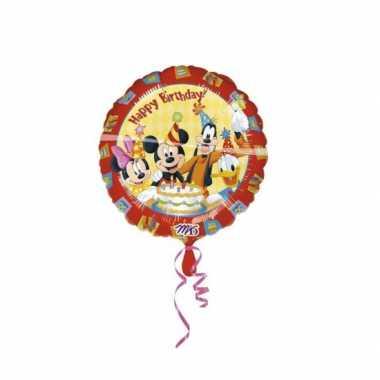 Kinderfeestje Mickey Mouse gefeliciteerd ballonnen