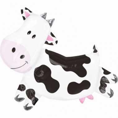 Koe dieren gefeliciteerd ballon 90 cm