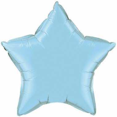 Licht blauwe sterretjes gefeliciteerd ballon 50 cm